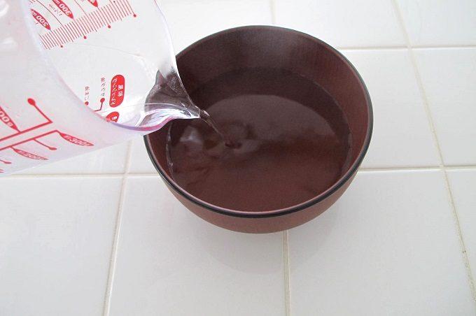 濃縮 あさり汁 お湯を注ぐ