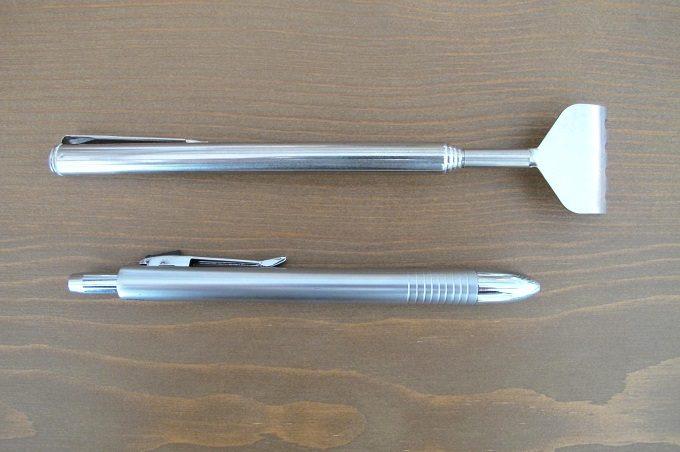 伸縮孫の手 ボールペンとの比較
