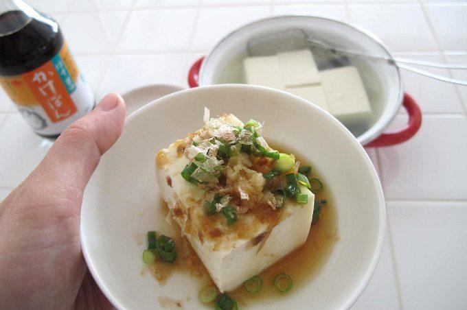湯豆腐を食べる