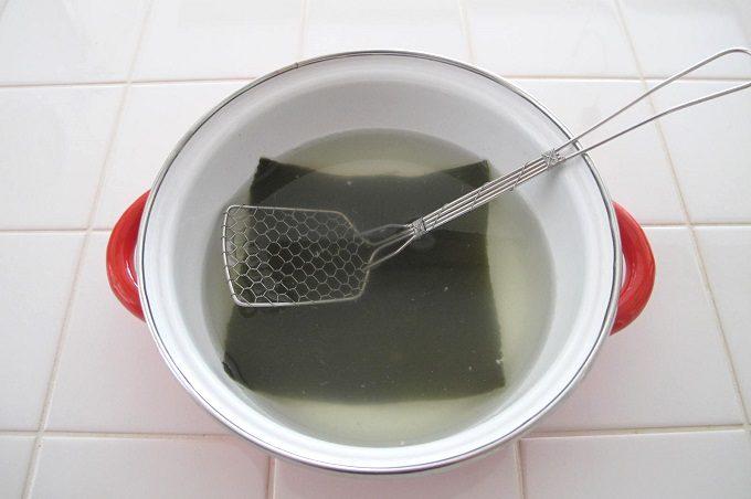 残った湯豆腐のスープ