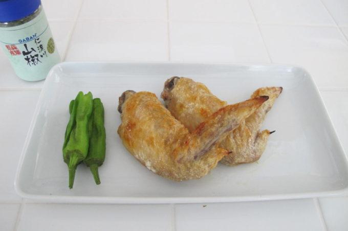 鶏の手羽先の塩焼き