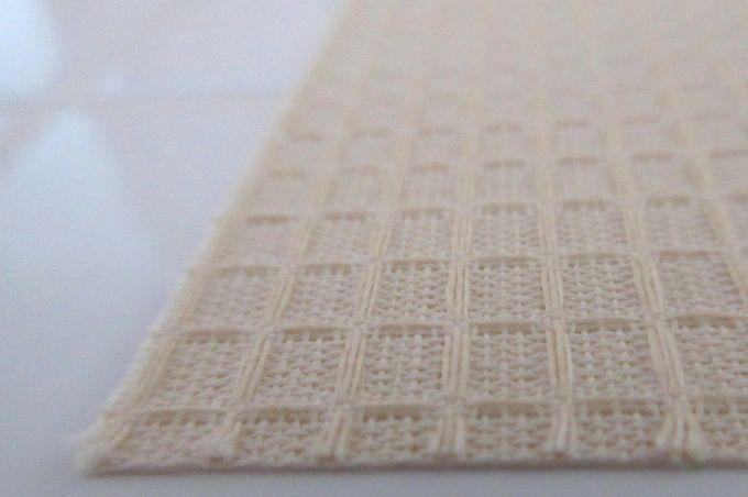 食器棚シート ワッフル織の布