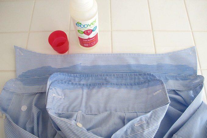 エコベール ステインリムーバー を塗ったワイシャツ