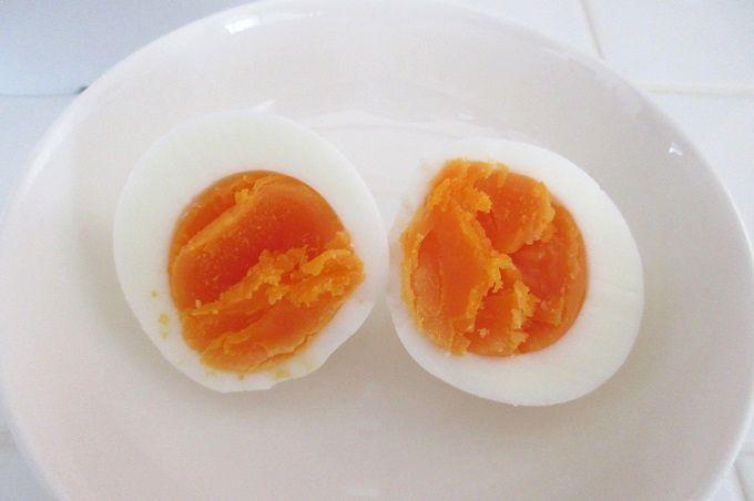レンジでらくチン ゆでたまご 固ゆで卵