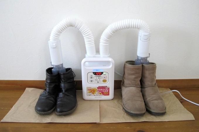 アイリスオーヤマ布団乾燥機 カラリエ 靴の乾燥
