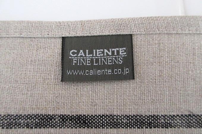 キッチンクロス リネン カリエンテ 品質表示タグ