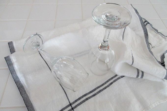 キッチンクロス リネン リーノエリーナ グラスを拭く