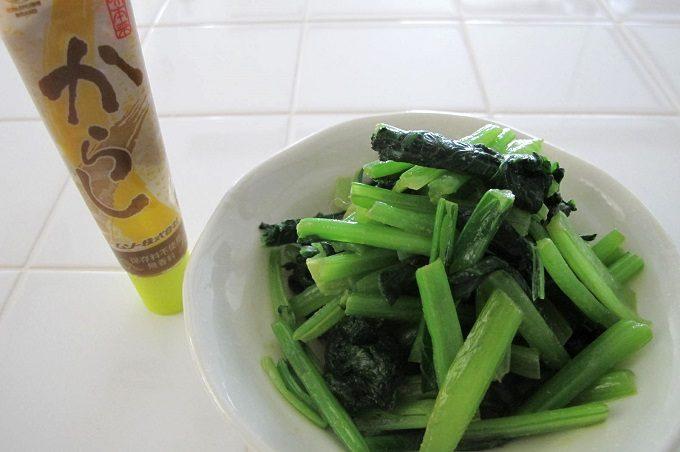 ムソー 旨味本来・からしチューブ入り 小松菜辛し和え