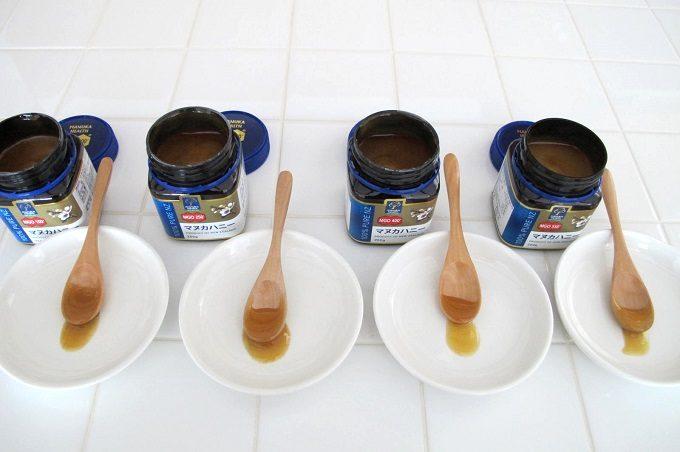 マヌカヘルス社のマヌカハニー食べ比べ とろとろ比較