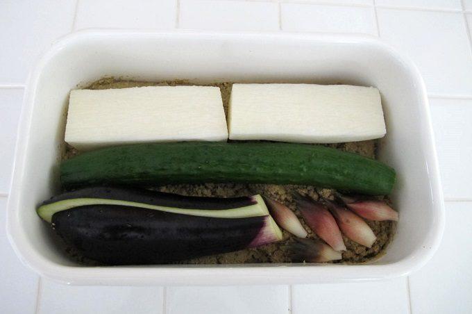 ぬか床と野菜