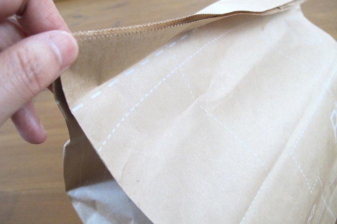 紙製新聞・雑誌整理袋 折り目線