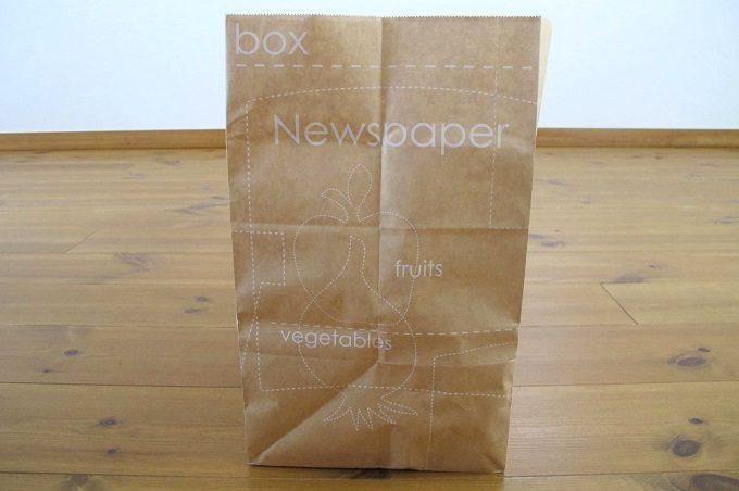 紙製新聞・雑誌整理袋 横面