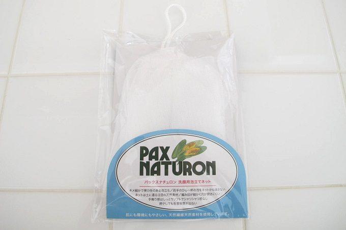 パックスナチュロン 洗顔用泡立てネット パッケージ