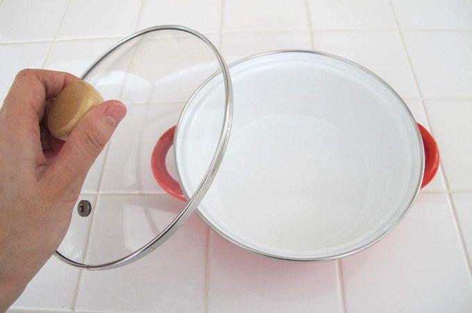 プチクック ホーロー鍋 ガラス蓋