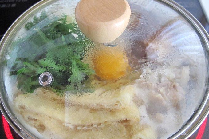 プチクック ホーロー鍋 鍋焼きうどんを作る