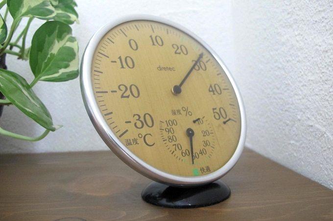 ドリテック 温湿度計 ナチュラルウッド