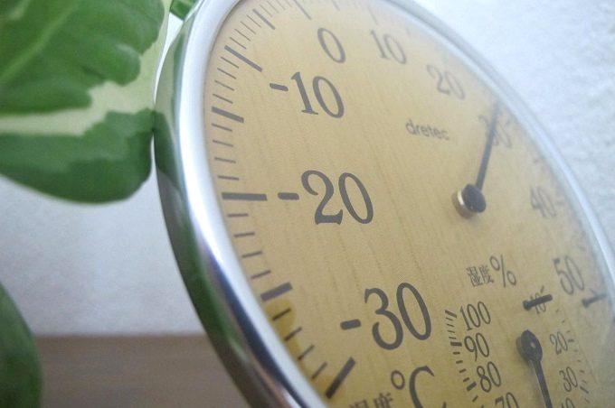 ドリテック 温湿度計 ナチュラルウッド 拡大