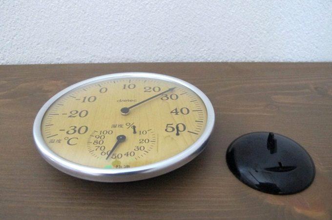 ドリテック 温湿度計 ナチュラルウッド セット内容