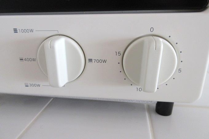 無印良品 オーブントースター 縦型 火力切替つまみ,タイマーつまみ