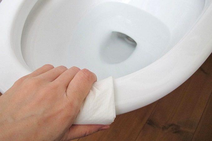 トイレットクリーニングシート トイレ掃除 フチ裏