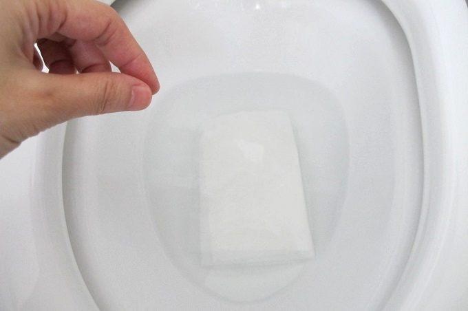 トイレットクリーニングシート トイレ掃除 完了