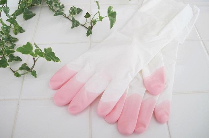 ファミリー ビニール 手袋 うす手 指先強化 炊事・掃除用